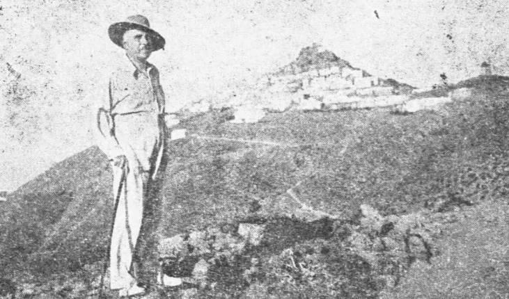 Ο Δ. Γληνός στην Ανάφη (Αύγουστος 1936)