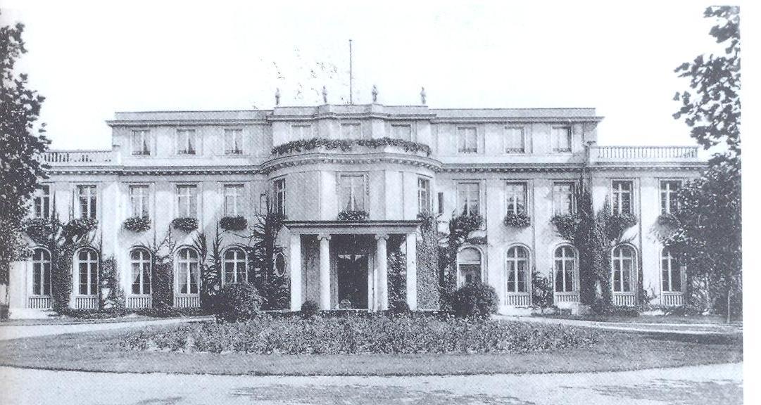 Η βίλα όπου έγινε η Συνδιάσκεψη, σε φωτό εποχής