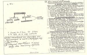 Από τη β' περίοδο: 1945 - 1966, Φυλακές Κέρκυρας. Σημειώσεις μαθήματος Πολιτικής Ιστορίας του Π. Μανταλόβα. (πηγή: Αρχείο Π. Μανταλόβα)