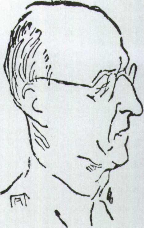 Ν. Καρβούνης (Σκίτσο του Αντώνη Πρωτοπάτση)