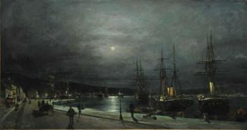 """""""Το λιμάνι του Βόλου τη νύχτα"""" – Κ. Βολανάκης"""