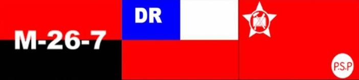 Οι σημαίες των τριών οργανώσεων