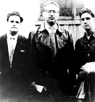 José Antonio Echeverría, René Anillo και Fidel Castro, στο Μεξικό