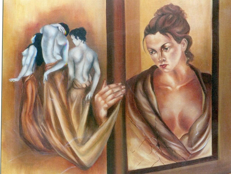 Ο πίνακας είναι της Κορίνθιας ζωγράφου Ευφροσύνης Χαστούπη - Παρούση
