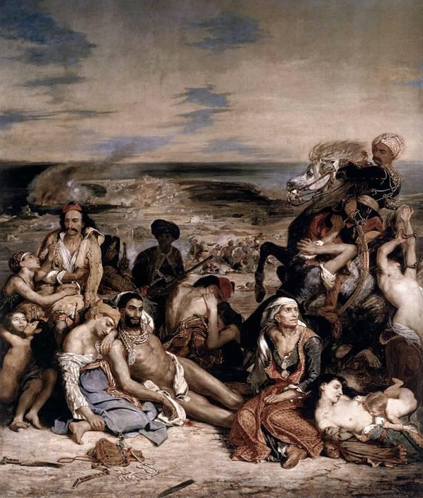 «Οι σφαγές της Χίου» (1824, Λούβρο)