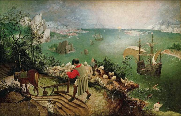 ​Pieter Bruegel, Η πτώση του Ίκαρου (1558) Royal Museums of Fine Art of Belgium