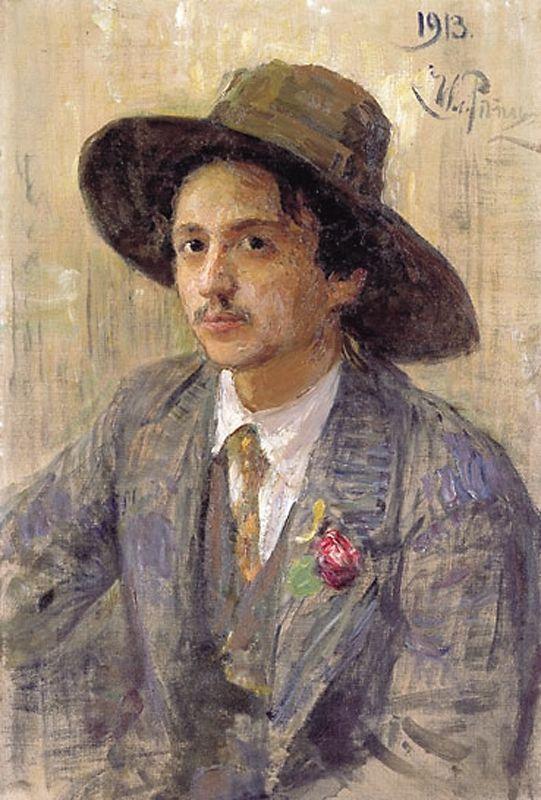 Πορτραίτο του Ισ. Μπρόντσκι ζωγραφισμένο από τον δάσκαλό του Ι. Ε. Ρέπιν