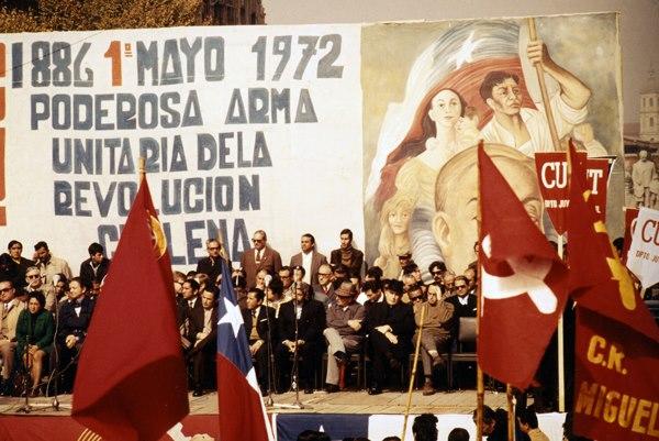 Ο Πρόεδρος της Χιλής Σαλβαδόρ Αλιέντε κατά τη διάρκεια του γιορτασμού της Εργατικής Πρωτομαγιάς (1972)