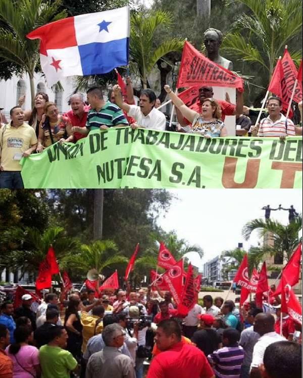 Συγκέντρωση περιφρούρησης  του αγάλματος του Χοσέ Μαρτί από οργανώσεις του Παναμά