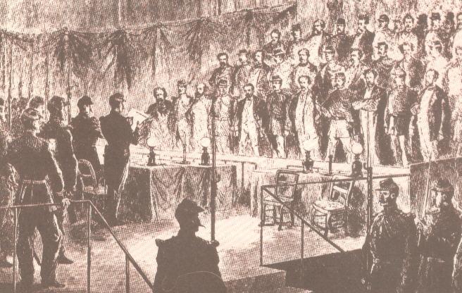 Η ανακοίνωση των ποινών στη δίκη των Κομμουνάρων.
