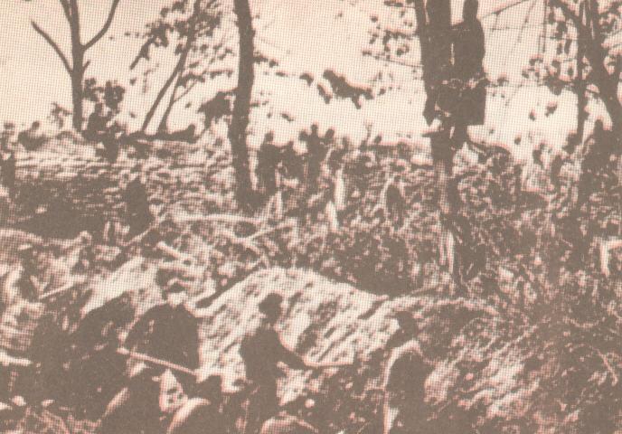 Η πυροβολαρχία του κυβερνητικού στρατού στο Φρούριο Μπεκόν.