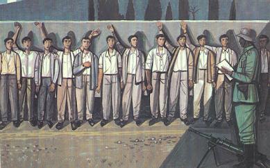 1 Μάη 1944 Η εκτέλεση των 200 στην Καισαριανή. Χαρακτικό Τάσσος