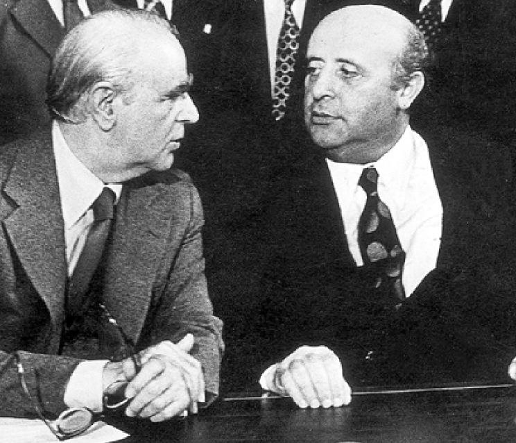 Κ. Καραμανλής με τον Σ. Ντεμιρέλ στην Βέρνη το 1976