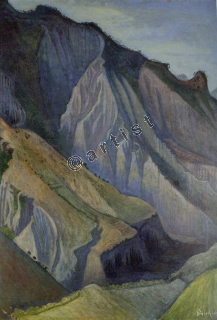 (Βάλιας Σεμερτζίδης, Τοπίο στην Αργιθέα, περ. 1955, λαδοτέμπερα σε χαρτόνι, 112 x 75 εκ.) Ο πίνακας είναι από την Ψηφιακή Πλατφόρμα , Ινστιτούτο Σύγχρονης Ελληνικής Τέχνης (iset)
