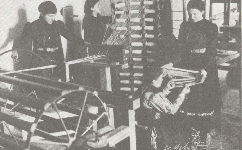 ΗΠΕΙΡΟΣ: Στη Λαμπριάδειο Υφαντουργική και Ταπητουργική Σχολή Άνω Σουδενών (Ζαγόρι, 1938)