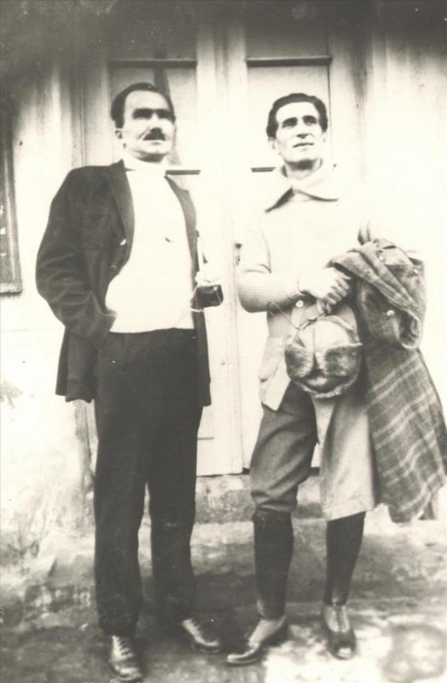 nikos-kazantzakis-kai-panait-istrati-1927