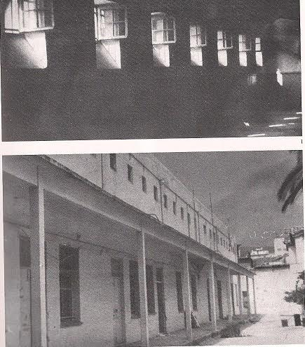 Πάνω φωτογραφία: Θάλαμος της φυλακής Αβέρωφ Κάτω φωτογραφία: Δυτική πτέρυγα της φυλακής. Στο βάθος ήταν το τμήμα με τα μωρά