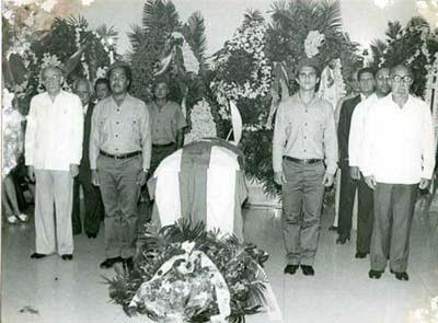 Από την κηδεία του Φελίξ Γκαρσία