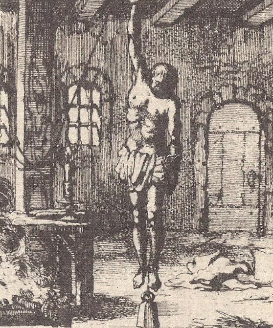 """Κρεμάλα μεσαιωνικής μορφής. Από τις παρόμοιες που γίνονταν στον """"Αράπη"""" του Φιξ"""