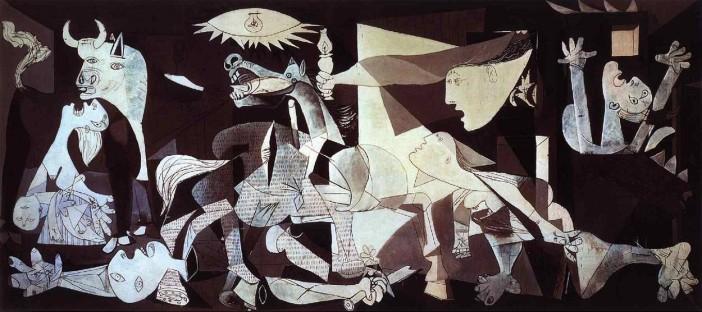 Γκουέρνικα (1937) - Λάδι σε Καμβά, 3,54 × 7,82 Εθνικό Μουσείο Τέχνης Βασίλισσα Σοφία, Μαδρίτη