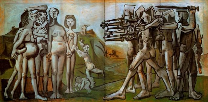 Πάμπλο Πικάσο: Σφαγή στην Κορέα (1951) Λάδι σε ξύλο, Μουσείο Ρicasso, Παρίσι Πηγή εικόνας: Τέχνης Σύμπαν και Φιλολογία