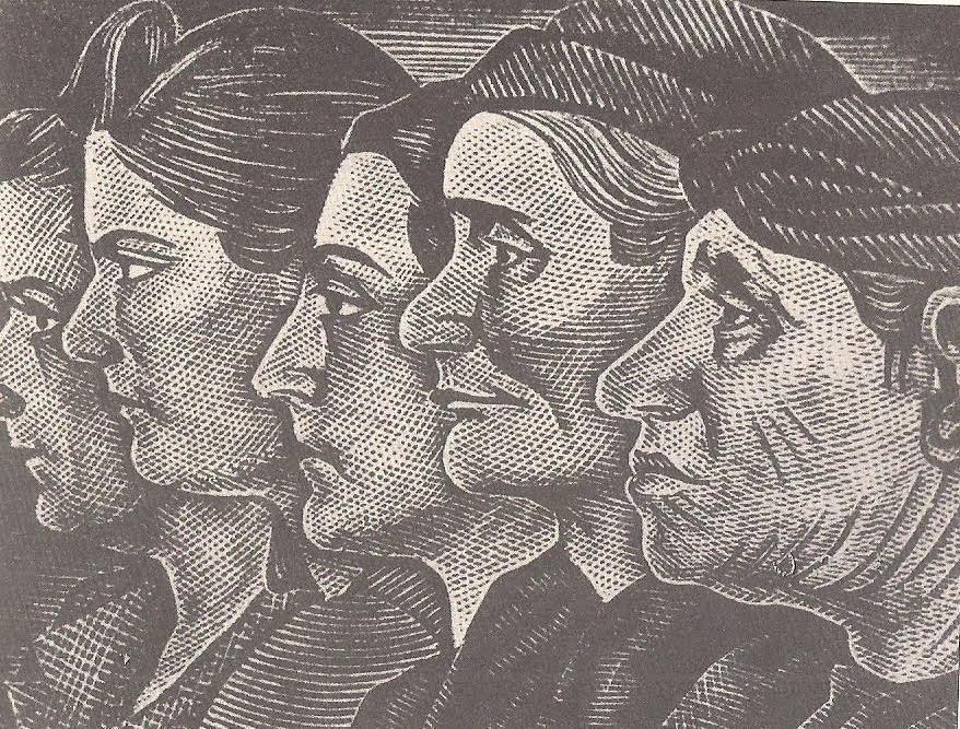 """Γ.Δήμου: """"Γυναίκες της Αντίστασης"""" (ξυλογραφία)"""
