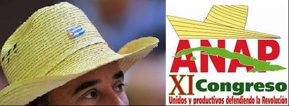 Αριστερά: Από το κλείσιμο του 11ου Συνέδριου της μαζικής οργάνωσης μικρών αγροτών της Κούβας (ΑΝΑP) με πάνω από 330,000 μέλη, τον Μάη του 2015. Φωτογρ. Cubadebate, Ladyrene Pérez. Δεξιά: Το κάλεσμα του πρόσφατου συνέδριου των αγροτών: «Ενωμένοι και παραγωγική υπερασπιζόμαστε την επανάσταση.