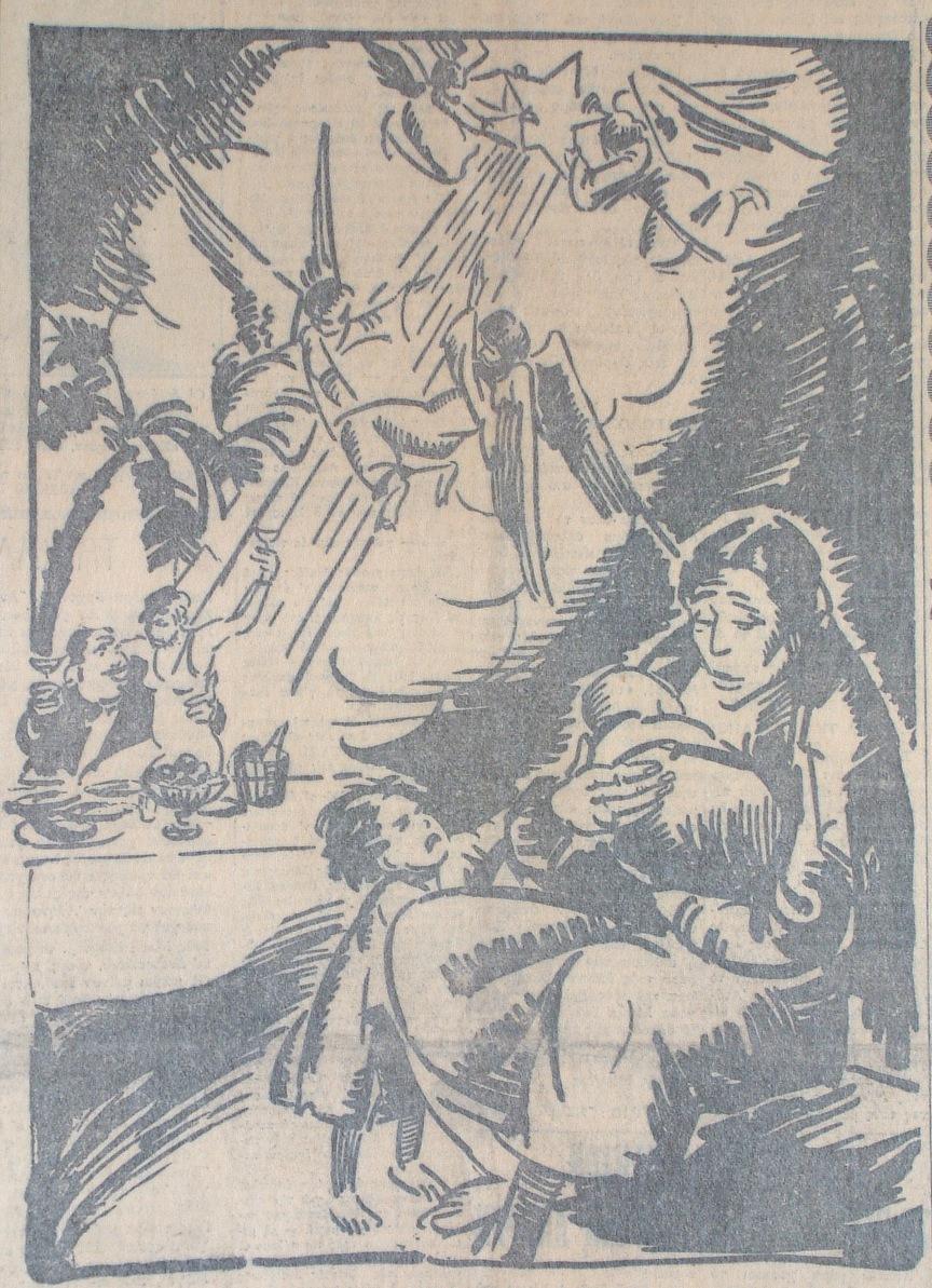 (Το εικαστικό δημοσιεύτηκε στον «Ριζοσπάστη» στις 25/12/1934)