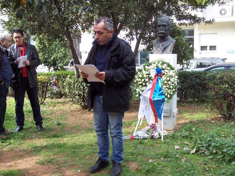 Ο εκπρόσωπος του Ελληνοκουβανικού Συνδέσμου Φιλίας και Αλληλεγγύης Βασίλης Πάπαρης