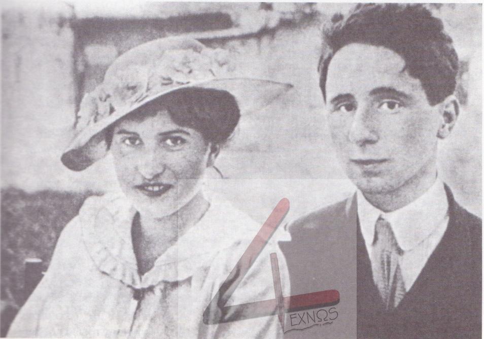 Ο Μπρεχτ με τη φιλενάδα του, γνωστή μόνο σαν Μπίε, στην οποία αφιέρωσε στα 1918 το έργο «Ταμπούρλα μέσα στη νύχτα»