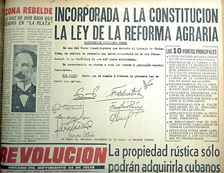REVOLUCION FRONT PAGE 1959