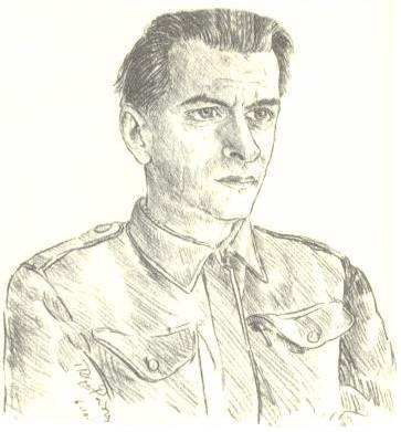Πέτρος Ρούσος (Σκίτσο: Δημ. Μεγαλίδης)