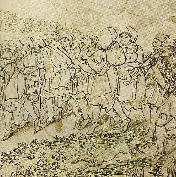 Σκηνή εκτοπισμού χωρικών από κρατικά όργανα. Εθνικό Ιστορικό Μουσείο, Αθήνα