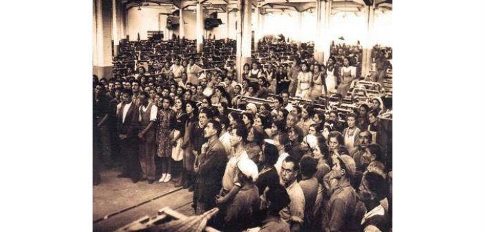 Εργάτες σε κλωστήρια