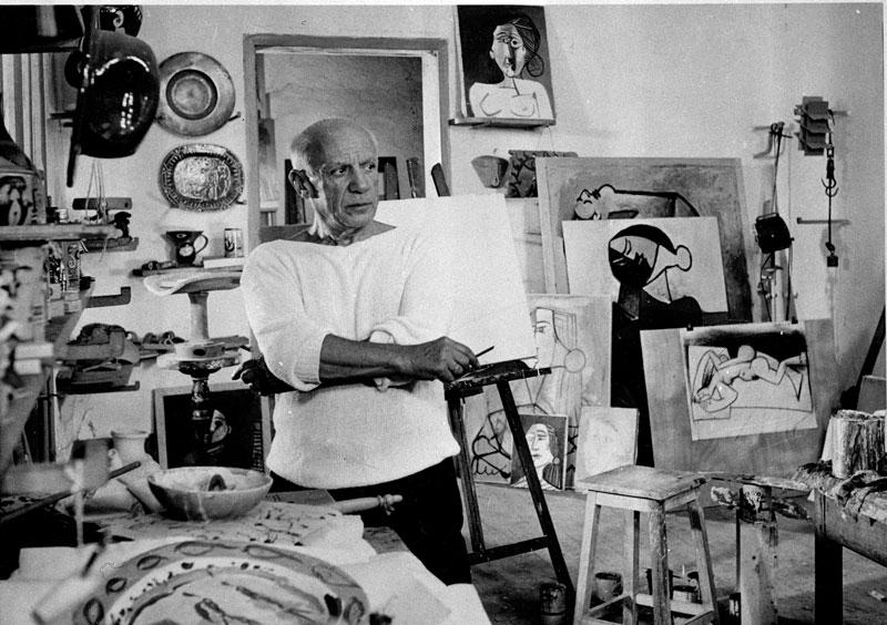 Ο Πικάσο στο εργαστήριό του. Vallauris, Γαλλία, 1953.
