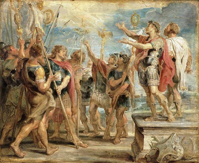 Ο Κωνσταντίνος δεν ήταν ούτε μεγάλος στρατηγός. Αν και νίκησε τους αντιπάλους του δεν έδειξε ιδιαίτερα στρατιωτικά προσόντα. Οι πιο πολλές νίκες του οφείλονται στο φανατισμό των στρατιωτών του, στην επιδεξιότητα των αρχηγών τους και στην καλύτερη τεχνική οργάνωσή τους («Η μεταστροφή του Κωνσταντίνου» του Ρούμπενς)