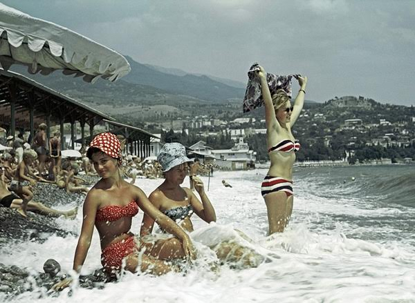 Εργαζόμενες σε διακοπές στην Κριμαία, 1963.