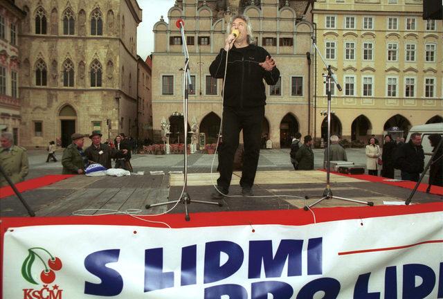 Ο Επαναστάτης Προύσαλης σε εκδήλωση του Κομμουνιστικού Κόμματος Βοημίας και Μοραβίας