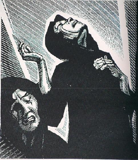 Κάνθος Τηλέμαχος , «Θρήνος γυναικών», ξυλογραφία