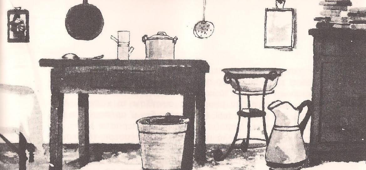Στο κελί της φυλακής του (εικονογράφηση: Μαρία Ενρίκα Αγκοστινέλι)