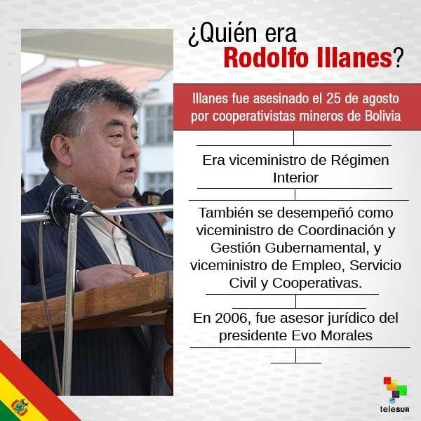 Rodolfo Llanes, o Bολιβιάνος υφυπουργός που δολοφονήθηκε στις 25 Αυγούστου 2016