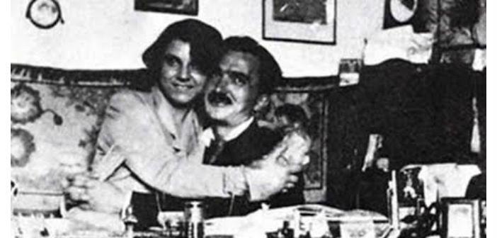 Γαλάτεια Καζαντζάκη και Νίκος Καζαντζάκης