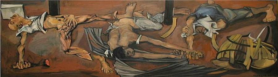 «Η εκτέλεση του Μπελογιάννη». Πίνακας του Γαλλοβρετανού Πέτερ ντε Φράνσια (1921-2012)