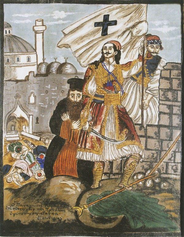"""Ο Παναγιώτης Κεφάλας επί των τειχών της Τριπόλεως υψώνει την σημαίαν της ελευθερίας"""""""