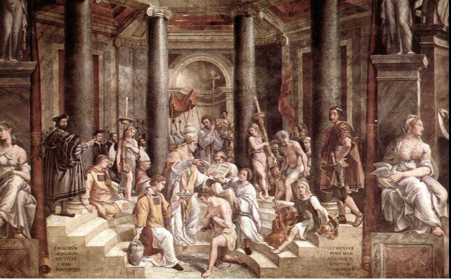 Το βάπτισμα του Κωνσταντίνου, του Ραφαήλ