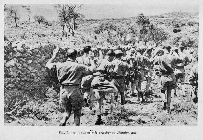 1941 Χανιά, αιχμάλωτοι Αγγλοι στρατιώτες στην περιοχή Βαμβακόπουλου
