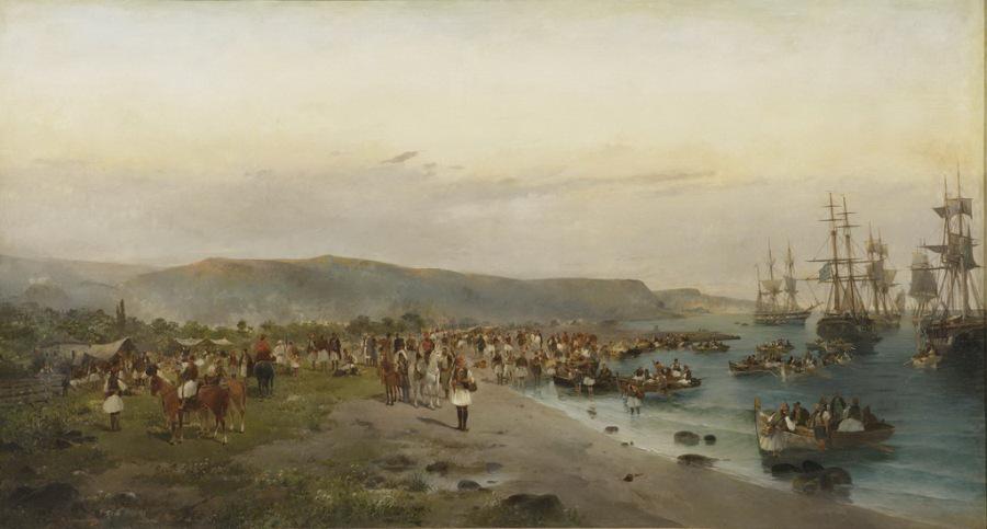 Η αποβίβαση του Καραϊσκάκη στο Φάληρο