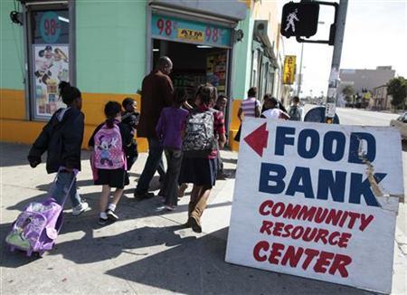 Τράπεζα τροφίμων για φτωχές οικογένειες στο Λος Άντζελες.