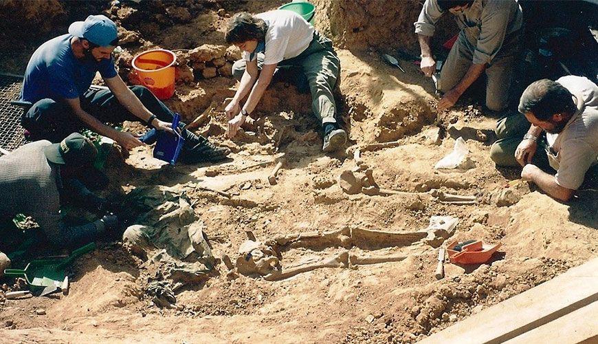 Φωτογραφία από τις ανασκαφές στην περιοχή του Βαλεγκράντε, 1997.