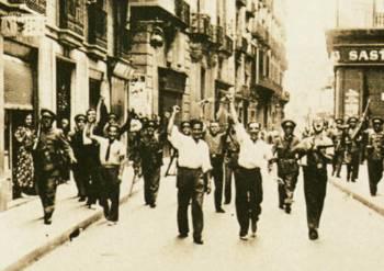 Διαδήλωση στη Μαδρίτη ενάντια στον Φράνκο. Ιούλης 1936
